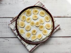 Блинный торт с творожным кремом и бананом - фото шаг 5