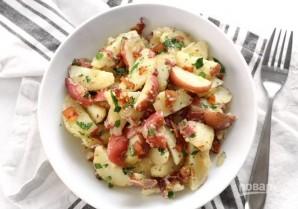 Деревенский картофельный салат - фото шаг 7