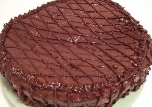 Бисквитный торт с заварным кремом - фото шаг 11
