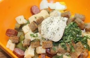 Салат с охотничьими колбасками - фото шаг 5