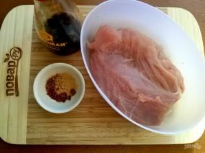 Куриное филе в сметанно-горчичном соусе - фото шаг 1