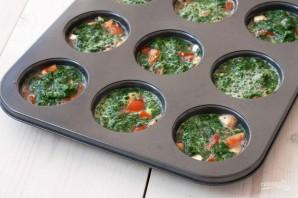 Маффины с помидорами и шпинатом - фото шаг 2