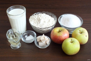"Пирог ""Хризантема"" с яблоками - фото шаг 1"