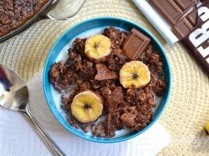 Шоколадная овсянка с бананом - фото шаг 8