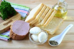 Гармошка из бутербродов - фото шаг 1