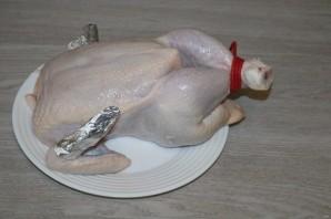 Курица, запечённая на соли в духовке - фото шаг 3