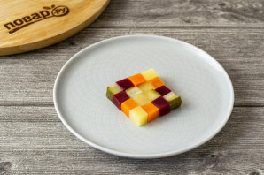 "Винегрет ""Кубик рубик"" - фото шаг 6"