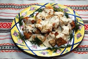 Куриное филе под сливочным соусом - фото шаг 7