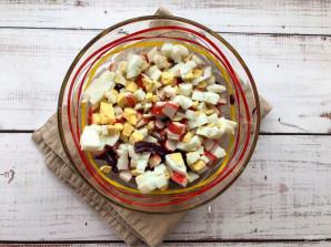 Салат из краснокочанной капусты с крабовыми палочками - фото шаг 4