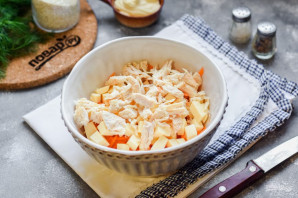 Куриный салат с морковью - фото шаг 4