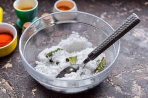 Сало соленое в фольге - фото шаг 2