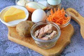 """Салат """"Мимоза"""" с корейской морковью - фото шаг 1"""