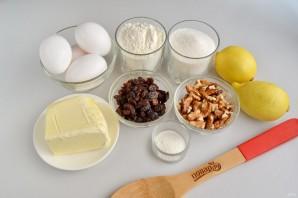 Лимонное пирожное с грецкими орехами, изюмом и безе - фото шаг 1