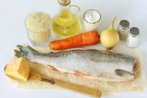 Горбуша с рисом в духовке - фото шаг 1
