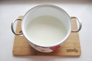 Домашний сыр без яиц - фото шаг 2