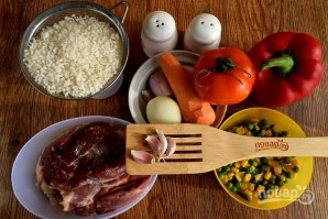 Курица с рисом и овощами по-каталонски - фото шаг 1