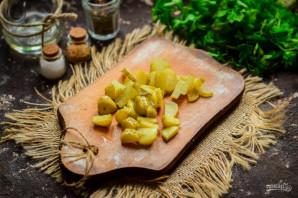 Салат с грибами, курицей и фасолью - фото шаг 3