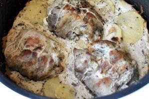 Ароматные рулеты из индейки с картофельным кугелем - фото шаг 8