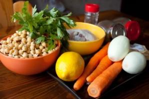 Суп с нутом и курицей - фото шаг 1