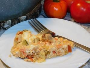 Омлет с мясом и овощами - фото шаг 6