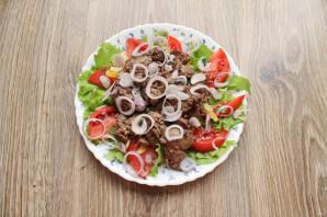 Салат с печенью и болгарским перцем - фото шаг 9