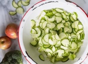Салат из свежей капусты с яблоком - фото шаг 1