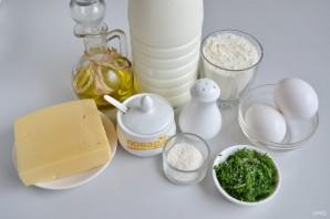 Сырные блины с укропом - фото шаг 1