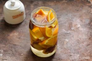 Компот из персиков и апельсинов на зиму - фото шаг 4