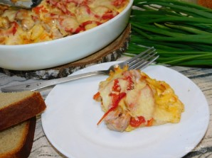 Картофель с куриным филе под сырной  шапкой - фото шаг 6