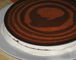 "Торт ""Зебра"" (классический рецепт) - фото шаг 8"
