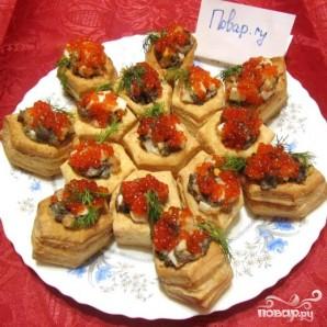 Тарталетки с грибами и креветками - фото шаг 3