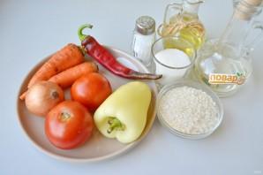 Овощной салат с рисом на зиму - фото шаг 1