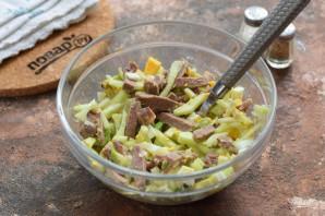 Салат с авокадо и языком - фото шаг 5