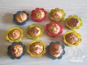 Творожные кексики в силиконовых формочках - фото шаг 6