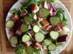Салат из куриной грудки с грибами - фото шаг 7