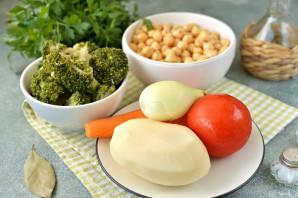 Суп с нутом и брокколи - фото шаг 1