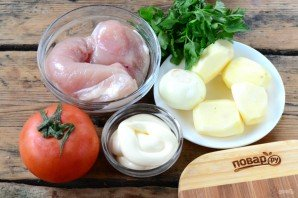 Куриная грудка в шубке под сыром - фото шаг 1