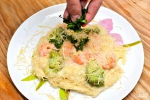 Паста с креветками и соусом Альфредо - фото шаг 6