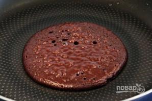 Торт из шоколадных блинчиков - фото шаг 3