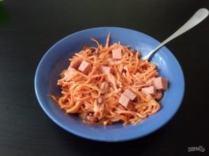 """Салат """"Сытный"""" с корейской морковью - фото шаг 4"""