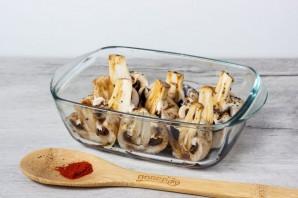Грибы в соевом соусе в духовке - фото шаг 2