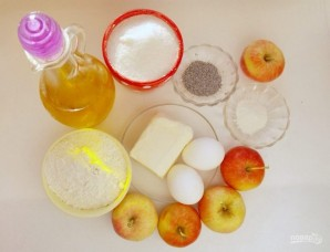 Яблочный маковый пирог - фото шаг 1