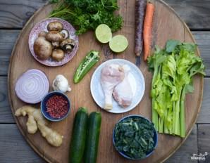 Куриный суп с овощами - фото шаг 1