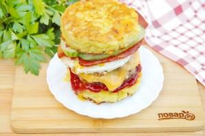 "Бургер на завтрак ""Башня на рассвете"" - фото шаг 14"