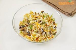 Кальмары, фаршированные рисом с грибами - фото шаг 5