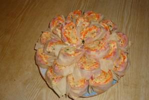 Лаваш с корейской морковкой и ветчиной - фото шаг 6