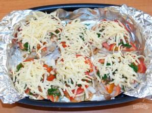 Свиные отбивные с овощами под сыром в духовке - фото шаг 5
