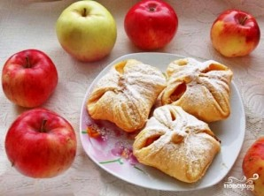 Слоеные конвертики с яблоками - фото шаг 4
