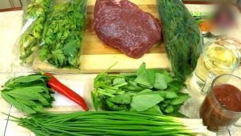Чакапули (мясо в зелени и вине)  - фото шаг 1