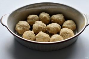 Индюшиные тефтели с кускусом в пикантном сливочно-горчичном соусе - фото шаг 4